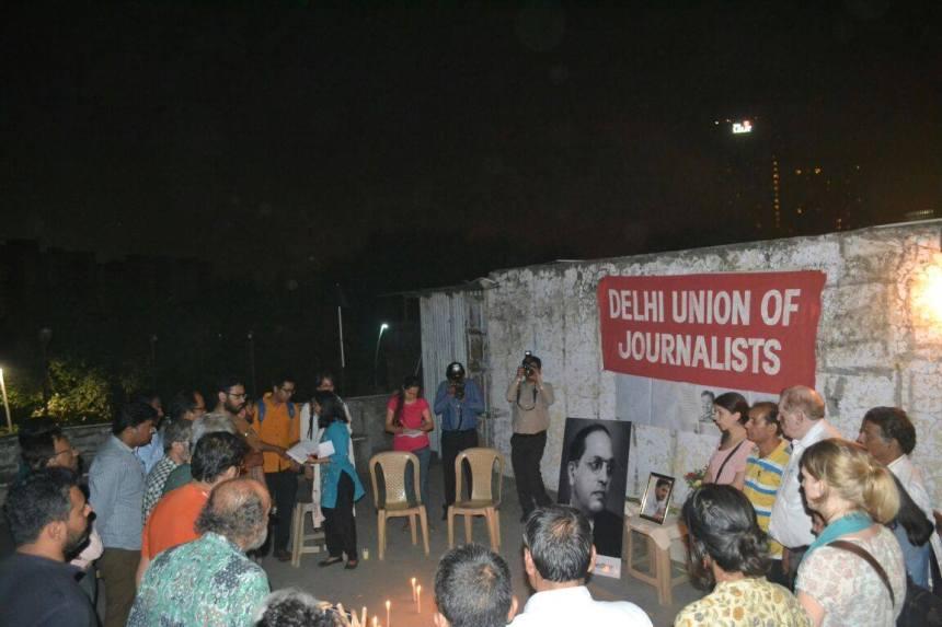 Delhi Union of Journalists organised a memorial meeting for Nagaraju.